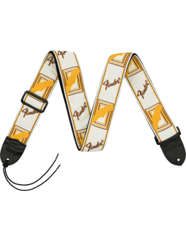 FENDER Sangle Monogramm WBY White/Brown/Yellow