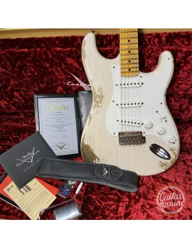 FENDER CUSTOM SHOP W20 NAMM Limited Edition Custom Built 56 Stratocaster Heavy Relic Aged White Blonde