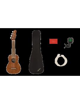 FENDER SEASIDE Soprano Ukulélé Pack (avec accordeur, cordes et housse)