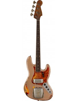 FENDER CUSTOM SHOP Limited Edition 60's Jazz Bass Relic Masterbuilt Vincent Van Trigt Shoreline Gold over 3-Color Sunburst