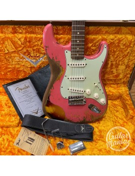 FENDER Custom Shop W20 NAMM Limited 60/63 Stratocaster Heavy Relic Aged Fiesta Red Over 3Sb