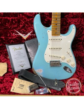 FENDER CUSTOM SHOP 1959 Time Machine Custom Collection Stratocaster Heavy Relic Maple Aged Daphne Blue