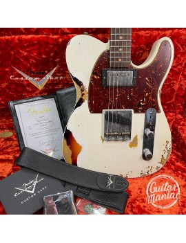 FENDER CUSTOM SHOP W20 NAMM Limited 1960 HS Telecaster Custom Heavy Relic RW Aged Olympic White over 3TS