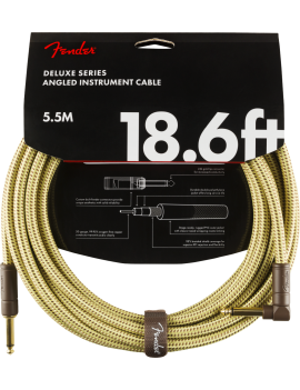 FENDER Deluxe Cable 5.5m Tweed droit/coudé