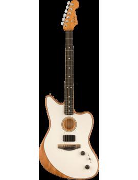 Guitare FENDER Acoustasonic Jazzmaster EB Arctic White Nice Guitar Maniac
