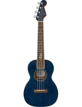 Fender Dhani Harrison WN sapphire blue tenor ukulele + housse livraison France Corse Monaco