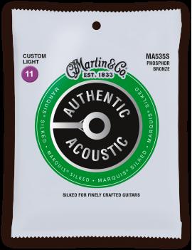 Martin MA535S Authentic Acoustic Silked 92/8 Phosphor Bronze custom light 11/52