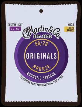 Martin M175 Originals 80/20 Bronze cordes acoustiques 11/52