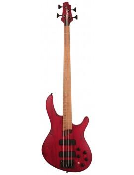 Basse électrique Cort B4 Plus AS RM OPBR burgundy red