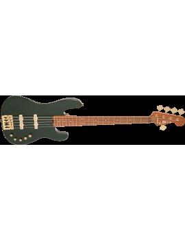 Charvel Pro-Mod San Dimas bass JJ V caramelized maple limbo green metallic
