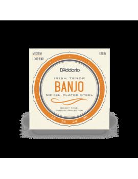 D'Addario EJ63I Cordes Irish Tenor Banjo nickel 12-36