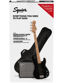 Squier Pack Affinity PJ bass MN BLK + Rumble 15 + accessoires Référence 0372981606, code 885978723171