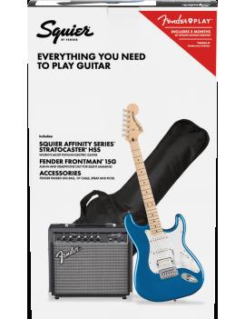 Squier Pack Affinity Stratocaster HSS MN LPB + Frontman 15G  + accessoires référence 0372820602, code 885978722976