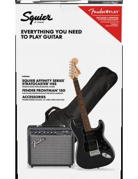 Squier Pack Affinity Stratocaster HSS LRL CFM + Frontman 15G  + accessoires référence 0372821669, code 885978723034
