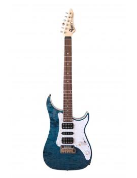 Vigier Excalibur Special HSH Tremolo RW deep blue + housse
