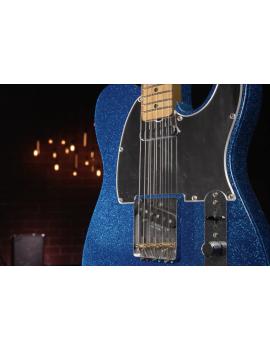 Fender J Mascis Telecaster MN bottle rocket blue flake réglage et livraison offerts par Guitar Maniac