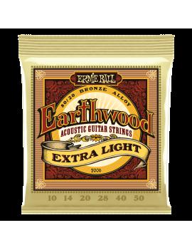 Ernie Ball 2006 Earthwood cordes acoustiques 80/20 Bronze extra light 10/50