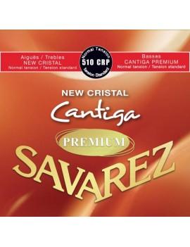Savarez 510CRP New Cristal Cantiga Premium rouge cordes classiques nylon normal 0698502504876