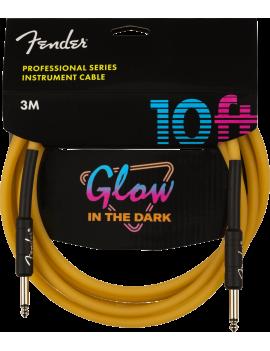 Fender câble professional glow in the dark orange 3m droit/droit