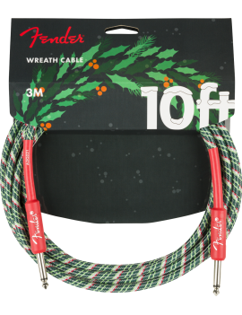 Fender Limited Edition Wreath Holiday Cable 3M Cable Instrument Droit/Droit