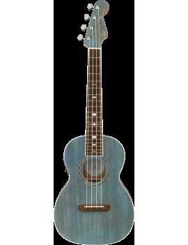 Fender Dani Harrison ukulele tenor WN turquoise + housse 0971752197 885978622009