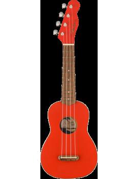 Fender FSR Venice soprano ukulele WN fiesta red 0971610740 885978930753