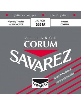 Savarez 500AR Alliance Corum rouge cordes classiques carbone normal