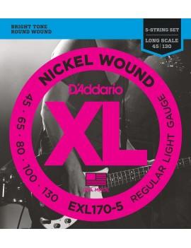 D'ADDARIO EXL170-5 Cordes...