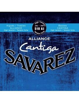 Savarez 510AJ Alliance Cantiga Bleu cordes classiques carbone fort